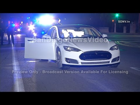 PURSUIT OF STOLEN TESLA TRACKED WITH PHONE APP, PACIFIC BEACH