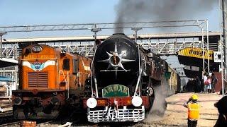 Rewari India  city photo : 150UP Steam Express Departing Rewari Junction!!!!!