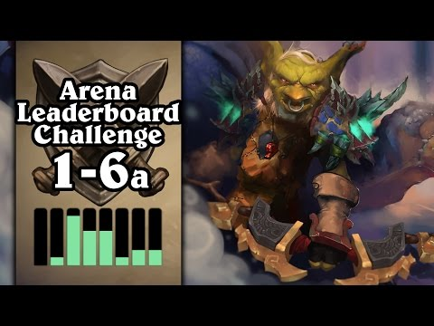 Hearthstone: Arena Leaderboard Challenge 1-6 - The Best Hunter Run Yet? - Part 1 (Hunter Arena) (видео)