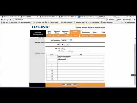 how to block facebook on tp link