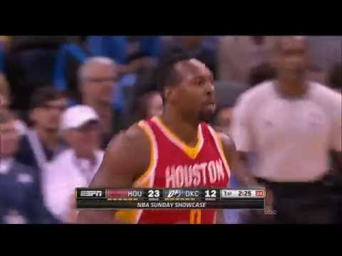 Beautiful ball movement by Rockets ends in a slam