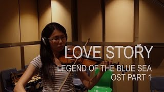 LYn (린) Love Story - The Legend Of The Blue Sea OST Part 1 (Violin Cover by Mary-Anne) Video