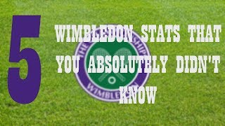 Wimbledon, A tennis time machine. There's nothing like it and there never will be. It's why the tournament is simply known as THE CHAMPIONSHIPS. Here's 5 Wimbledon stats that you did not know.