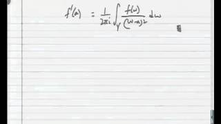 Mod-03 Lec-08 The First And Second Derivatives Of Analytic Functions