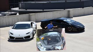 LAMBORGHINI HURACAN TRUNK CAN ONLY FIT A DRONE. today was the columbus cars and coffee arena district show and it ...
