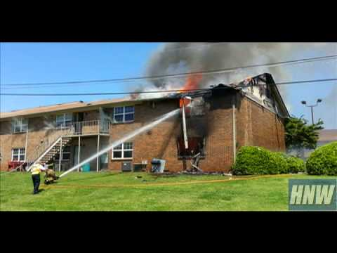 Apartment fire in Huntsville, Alabama