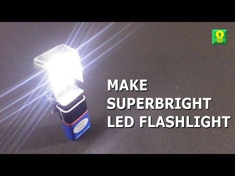 How to make SuperBright LED Flashlight