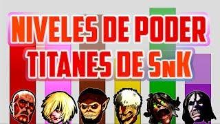 Niveles de Poder de los TITANES de Shingeki no Kyojin  Attack on TitanHoy os traigo un vídeo donde veremos el poder que tienen los 6 Titanes Cambiantes en SnK. El Acorazado, Colosal, Bestia... Aquí tenéis un vídeo donde veréis a Levi si fuese un Titán Cambiante: https://www.youtube.com/watch?v=fNOgcA4TtbE----------------------------------------------------------------------Visita mi página web: http://www.domivat.com/Pokémon SS Favlocke: https://www.youtube.com/watch?v=LJL1A50MxpI&list=PLT2WhAcLwu3UDx0epjA8bC7wUs2Gr6NdfPokémon Linklocke: https://www.youtube.com/watch?v=esbSAUw0WJ0&list=PLT2WhAcLwu3XCJVclOEoFdLta01GDfRYBPokémon Verde Hierba: https://www.youtube.com/watch?v=Ls3jpjAlaeo&list=PLT2WhAcLwu3XOj_pW4tzUYF3AJbOhr9pOHarry Potter y la Cámara secreta GBC: https://www.youtube.com/watch?v=4V2NJqBAPPE&list=PLT2WhAcLwu3Xzo-cU3Fw4BOKn0-nD9sMfHarry Potter y la Cámara secreta PC: https://www.youtube.com/watch?v=gGIkcY9IxcU&list=PLT2WhAcLwu3VT7s8rWrbjDkLMNGSb-XSlHarry Potter y la Piedra Filosofal GBC: https://www.youtube.com/watch?v=6fxe9hd8WCE&list=PLT2WhAcLwu3Vc-6Dcmnng450z_eMaYO7-Aura Candente: https://www.youtube.com/watch?v=sX5jcXSJAlk&list=PLT2WhAcLwu3WfgwCsJ_zynklP9CwWj6TWMi clave de amigo de la 3DS: 2595-1149-5783Mi nombre en foros y servidores de Minecraft: TheDomivatMi Skype: DomyGamesVisítame en:Twitter: http://twitter.com/PotterLunaticoInstagram: http://instagram.com/pikachusalidoTumblr: http://potteradicto.tumblr.comAsk: http://ask.fm/domy77También estoy en estos canales:HUMOR Y MÚSICA: http://www.youtube.com/user/TheDomivatMULTIVLOG: http://www.youtube.com/user/CosaDeVloggersCOMUNIDAD POKÉMON: https://www.youtube.com/channel/UC8tKhhnFpTGXm_IXTk97aOgApoya con un like y un comentario para seguir haciendo cositas ^^Recomendad juegos si queréis y seguramente acabe jugándolos :DVarias personas me han preguntado cual es la canción de la intro, en realidad son tres canciones un poco aceleradas y mezcladas por mi:La que suena al principio es Crossing Field, la OP 