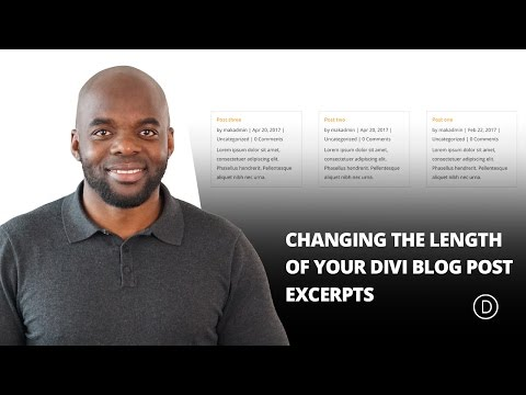 Changing The Length of Your Divi Blog Post Excerpts