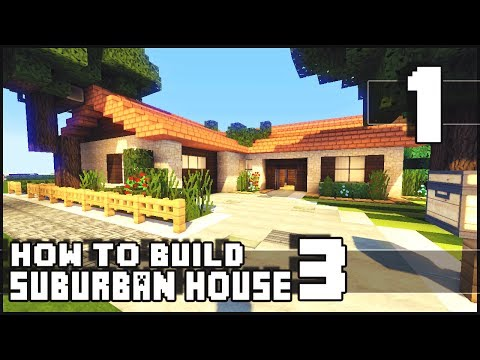 Minecraft how to build small suburban house 3 part 1 for Online tiny house builder