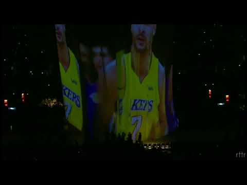 BTS MIC Drop Remix as background for LAKERS's intro