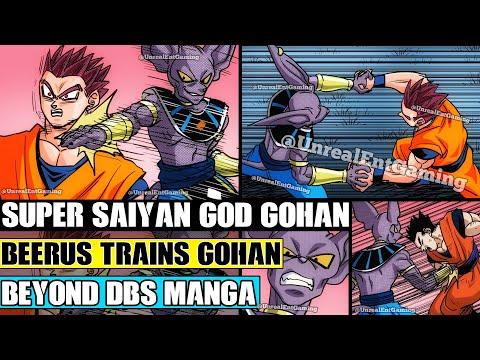 Beyond Dragon Ball Super: Beerus Trains Ultimate Gohan! Super Saiyan God Gohan Is Born!