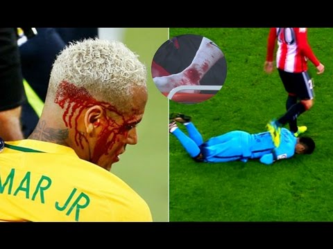 Players Hunting on Neymar Jr ● Horror Tackles ● Brutal Fouls | HD