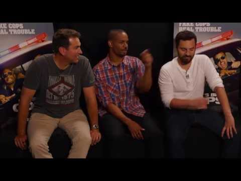 LET'S BE COPS interview with Jake Johnson, Damon Wayans Jr. and Rob Riggle - Dallas press junket