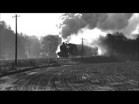 West Somerset Railway GWR 3850 on shimmering rails 29th D...