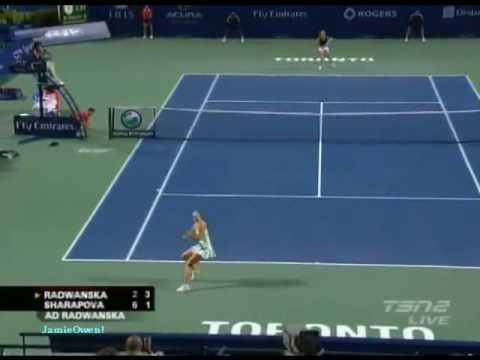 Agnieszka Radwanska  vs Maria Sharapova, Toronto 2009