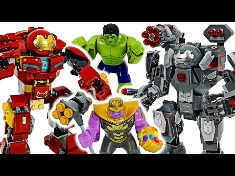Lego Marvel Avengers 4 End Game! War Machine Buster, Hulk Buster! Defeat Thanos! #dudupoptoy