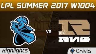 NB vs RNG Highlights Game 2 LPL SUMMER 2017 NewBee vs Royal Never Give Up by Onivia Make money with your LoL...