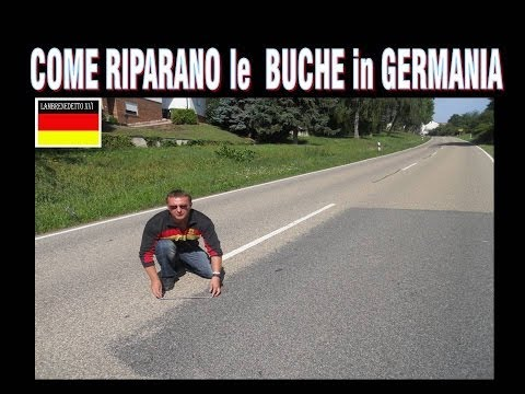 ecco come riparano le strade e le buche in germania e in italia