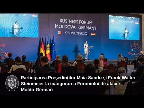 Mesajul doamnei Maia Sandu, Președintele Republicii Moldova, la deschiderea Forumului de afaceri moldo-german