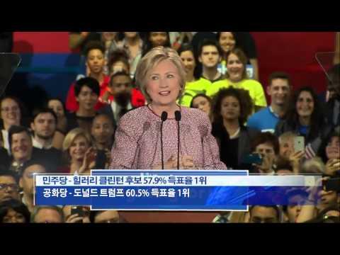뉴욕 경선, 힐러리·트럼프 압승 4.20.16 KBS America News
