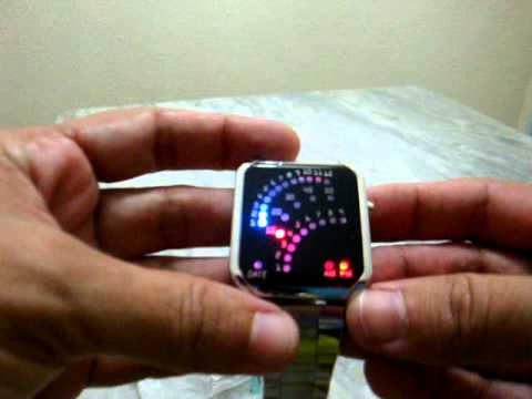 , title : '29 Binary LED Digital Wrist Watch Silver Chinabuye.com'