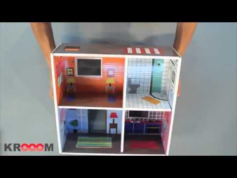 juguete educativo casa de muñecas de cartón Murielle