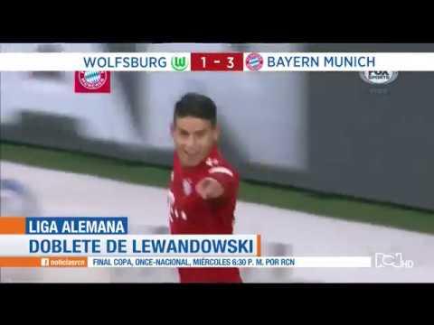 Video James Rodríguez marca gol en la en la victoria 3-1 del Bayern Múnich contra el Wolfsburgo download in MP3, 3GP, MP4, WEBM, AVI, FLV January 2017