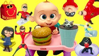 Video Full Set of The Incredibles 2 Happy Meal Toys with Baby Jack Jack MP3, 3GP, MP4, WEBM, AVI, FLV Oktober 2018