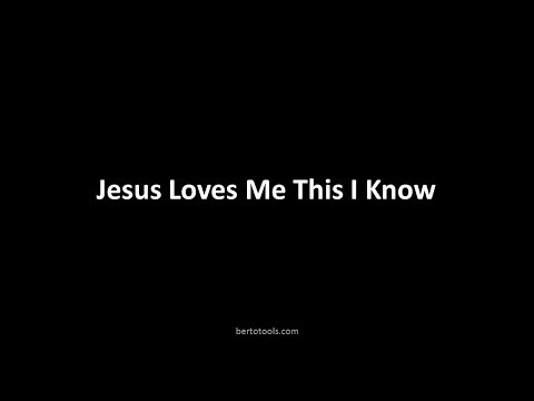 Jesus Loves Me This I Know  Instrumental Worship w/Lyrics
