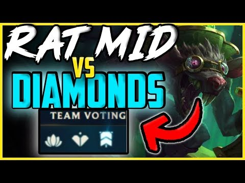 DOMINATING DIAMOND PLAYERS WITH TWITCH MID  - League of Legends