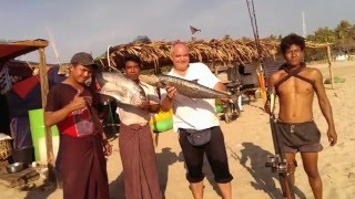 Ngwesaung Beach Myanmar  city photos : Fishing Ngwe Saung Beach Myanmar - THE MOVIE part 3