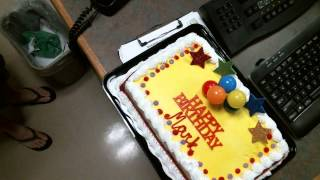 If you're new, Subscribe! → http://bit.ly/1vH6LVU Enjoy drone footage of Mark Bolger's birthday cake. Go here → http://mix97fm.com/ Like us → http://www.fa...