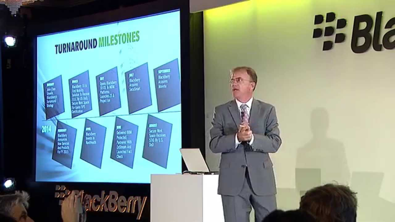 BlackBerry Passport Launch, London – Marty Beard discusses the device business