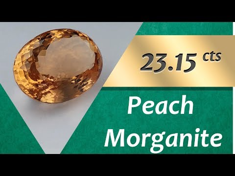 Peach Morganite. 23.15 Carat Natural Peach Morganite