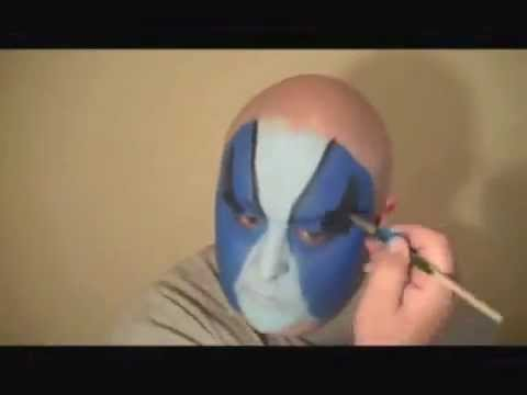 Jeff Hardy Blue Face Painting  Marvelous Masks Chicago Face Painting