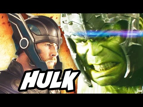 Thor Ragnarok Trailer Hulk Easter Eggs and Why Thor Fights Explained (видео)