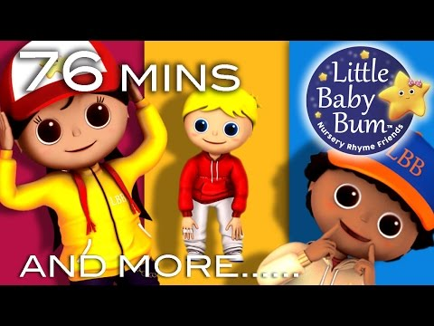 Head Shoulders Knees and Toes   Plus Lots More Videos   76 Minutes Compilation from LittleBabyBum!