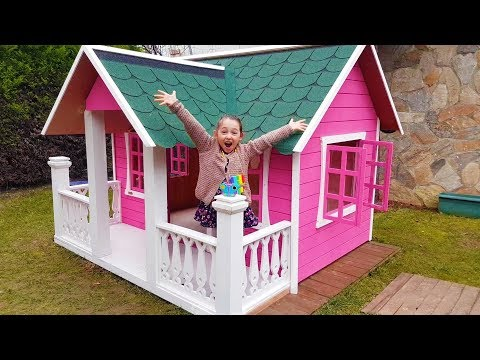 Öykü's New Playhouse And Dad - Fun Kid Video Oyuncak Avı