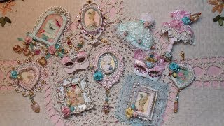 Embellished Polymer clay frames in shabby chic style. Part 1: How To Use Ready Made/Handmade Molds & Clay ...