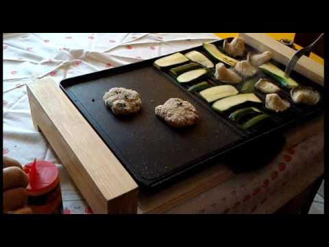 Klarstein Lumberjack Grill Elettrico da Tavolo 2300W Rustico Legno  distribuito da Electronic Star