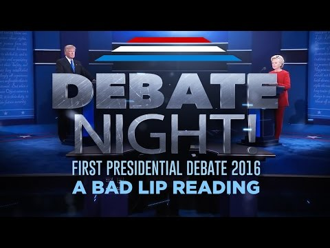 A Bad Lip Reading of the first 2016 Presidential