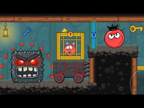 "RED BALL 4 : EPISODE 5 PERFECT "" INTO THE CAVE "" VOLUME 5 NEW ACHIEVEMENTS UNLOCKED KING TOMATO BALL"