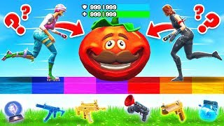 PUSH the TOMATO HEAD Rarity BATTLE *NEW* Game Mode in Fortnite Battle Royale