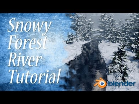 blender - Discover multiple techniques to creating a realistic Snowy Forest River Scene in this Blender 2.7 Tutorial! Like my FB page! https://www.facebook.com/pages/B...