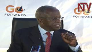 Amama Mbabazi addresses the media and talks about the cases of alleged police raid on his lawyers' offices in which materials and evidence linked to the elec...