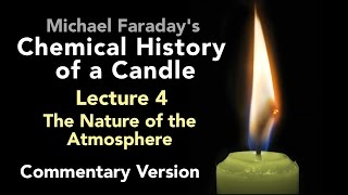 "Bill Hammack & Don DeCoste highlight the key points of Lecture Four of Michael Faraday's lectures on The Chemical History of a Candle. A free companion book helps modern viewers understand each lecture — details at http://www.engineerguy.com — as does this commentary track and closed captions for each lecture.►Free Companion book to this video series http://www.engineerguy.com/faradayText of Every Lecture  Essential Background  Guides to Every Lecture  Teaching Guide & Student ActivitiesIn these lectures Michael Faraday's careful examination of a burning candle reveals the fundamental concepts of chemistry, while at the same time superbly demonstrating the scientific method. In this lecture Faraday investigates the properties of oxygen, nitrogen and carbon dioxide. LINKS TO OTHER VIDEOS IN THIS SERIES► Lectures(1/6) Introduction to Michael Faraday's Chemical History of a Candlehttps://www.youtube.com/watch?v=RrHnLXMTOWM(2/6) Lecture One: A Candle: Sources of its Flamehttps://www.youtube.com/watch?v=6W0MHZ4jb4A(3/6) Lecture Two: Brightness of the Flamehttps://www.youtube.com/watch?v=B8vSLgaW9WQ(4/6) Lecture Three: Products of Combustionhttps://www.youtube.com/watch?v=31pLJyReFXw(5/6) Lecture Four: The Nature of the Atmospherehttps://www.youtube.com/watch?v=v1DWHeouJYM(6/6) Lecture Five: Respiration & its Analogy to the Burning of a Candlehttps://www.youtube.com/watch?v=Fb4RoPEtwso► Bonus Videos: Lectures with CommentaryLecture One: A Candle: Sources of its Flame (Commentary version)https://www.youtube.com/watch?v=ce0g0e9NmgQLecture Two: Brightness of the Flame (Commentary version)https://www.youtube.com/watch?v=grWNnVB9B-4Lecture Three: Products of Combustion (Commentary version)https://www.youtube.com/watch?v=0s8anLurWp0Lecture Four: The Nature of the Atmosphere (Commentary version)https://www.youtube.com/watch?v=WLgxPKU-JsILecture Five: Respiration & its Analogy to the Burning of a Candle (Commentary version)https://www.youtube.com/watch?v=tCmZfnT6_M4►Subscribe now!  https://www.youtube.com/subscription_center?add_user=engineerguyvideo►Become an advanced viewer of Engineer Guy videos - help evaluate early draftshttp://www.engineerguy.com/previewCOMPANION BOOK DETAILSThe companion book is available as an ebook, in paperback and hardcover — and for free as a PDF. Details on all versions are at http://www.engineerguy.com/faradayMichael Faraday's The Chemical History of a Candlewith Guides to the Lectures, Teaching Guides & Student ActivitiesBill Hammack & Don DeCoste190 pages  5 x 8  14 illustrationsHardcover (Casebound)  ISBN 978-0-9838661-8-0  $24.95Paper ISBN 978-1-945441-00-4 $11.99eBook  ISBN 978-0-9839661-9-7  $3.99Audience: 01 — General TradeSubjectsSCI013000   SCIENCE / Chemistry / GeneralSCI028000   SCIENCE / Experiments & ProjectsSCI000000   SCIENCE / GeneralEDU029030  EDUCATION / Teaching Methods & Materials / Science & TechnologyThis book introduces modern readers to Michael Faraday's great nineteenth-century lectures on The Chemical History of a Candle. This companion to the YouTube series contains supplemental material to help readers appreciate Faraday's key insight that ""there is no more open door by which you can enter into the study of science than by considering the physical phenomena of a candle."" Through a careful examination of a burning candle,  Faraday's lectures introduce readers to the concepts of mass, density, heat conduction, capillary action, and convection currents. They demonstrate the difference between chemical and physical processes, such as melting, vaporization, incandescence, and all types of combustion. And the lectures reveal the properties of hydrogen, oxygen, nitrogen, and carbon dioxide, including their relative masses and the makeup of the atmosphere. The lectures wrap up with a grand, and startling, analogy: by understanding the chemical behavior of a candle the reader can grasp the basics of respiration. To help readers understand Faraday's key points this book has an ""Essential Background"" section that explains in modern terms how a candle works, introductory guides for each lecture written in contemporary language, and seven student activities with teaching guides.Author BiosBill Hammack is a Professor of Chemical & Biomolecular Engineering at the University of Illinois—Urbana, where he focuses on educating the public about engineering and science. He is the creator and host of the popular YouTube channel engineerguyvideo. Don DeCoste is a Specialist in Education in the Department of Chemistry at the University of Illinois—Urbana, where he teaches freshmen and pre-service high school chemistry teachers. He is the co-author of four chemistry textbooks."