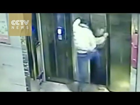 WATCH: Drunk Man Kicks Elevator Doors Then Falls Down Its Shaft!
