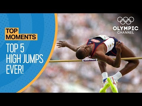 Top 5 Olympic High Jumps of All-Time!   Top Moments (видео)