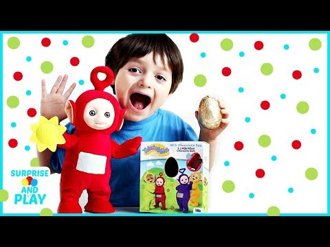 Teletubbies Dancing Po from Spin Master and Teletubbies Chocolate Egg (видео)